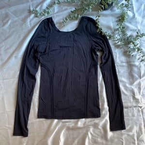 Lululemon Black Long Sleeve Top With Thumb Holes